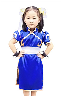 Street Fighter Chun Li Kinder Cosplay Kostüme