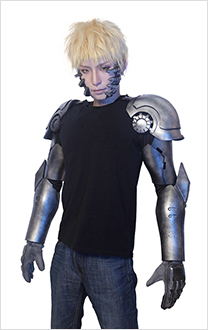 (Free Shipping)One Punch Man Genos Cosplay Cyborg Arms