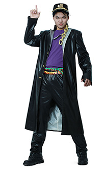 JoJos Bizarre Adventure Jotaro Kujo Leather Cosplay Costumes