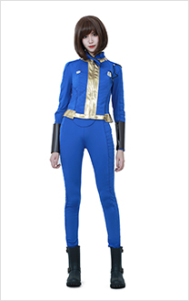 Fallout 4 Female Sole Survivor Nora Cosplay Costume Adult Vault Jumpsuit Two-Piece Suit Jacket Pants