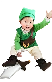 The Legend of Zelda Baby Link Cosplay Kostüme