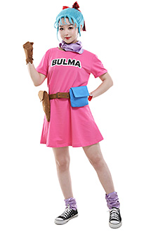 [Free US Economy Shipping] Dragon Ball Bulma Cosplay Costume Dress