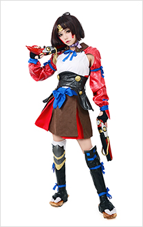Kabaneri of the Iron Fortress Mumei Cosplay Costume(headwear and kneecap included)