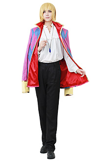 [Free US Economy Shipping] Howls Moving Castle Howl Cosplay Costume including Jewelry Necklace