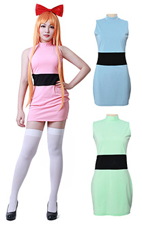 Powerpuff Girls Blossom Bubbles Buttercup Adults Cosplay Costume