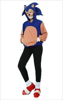 Sonic the Hedgehog Cosplay Hoodie Costume