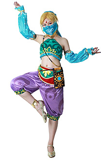 Female Zelda Link Gerudo Outfit Cosplay Costume