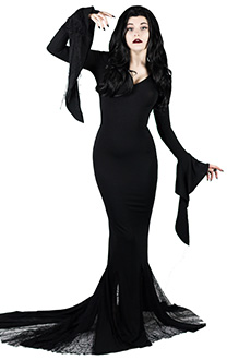 [Free US Economy Shipping] The Addams Family Morticia Addams  Dress Cosplay Costume for Halloween