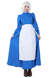 Howls Moving Castle Sophie Hatter Blue Dress Cosplay Costume