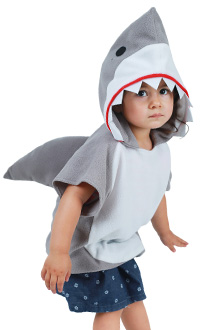 Kids Little Shark Grey Red Green Pink Yellow Blue Halloween Costume Mascot Hoodie