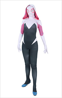 Disfraz de superhéroe Jumpsuit Cosplay inspirado en Spider-Woman Gwen Stacy Order to Made