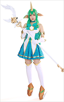 League of Legends Star Guardian Soraka Cosplay Costume Dress