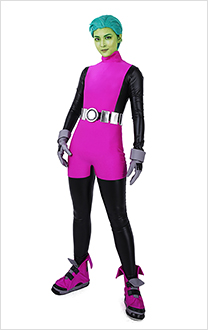 Teen Titans Beast Boy Cosplay Costume Jumpsuit