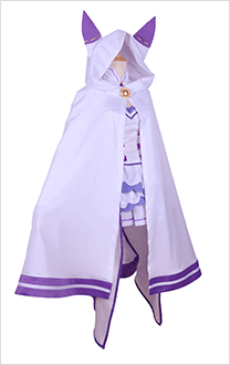 Re: Zero Starting Life in Another World Emilia Cat Ears Cloak Cosplay Costume