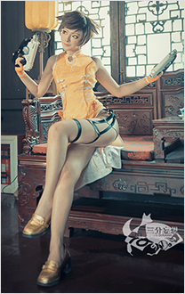 Overwatch Tracer Lena Oxton Cheongsam Cosplay Costume