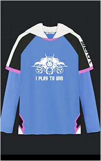 Overwatch Game-related D.VA 2-in-1 Hoddie Long Sleeves Cosplay Costume