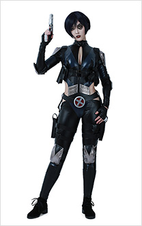 Superhero Cosplay Suit Costume with Belts Set Inspired by Deadpool Domino Order to Made
