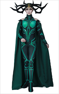 THOR 3: Ragnarok Hela Cosplay Costume with Cloak