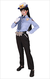 Overwatch Officer D.Va Cosplay Costume