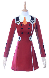 DARLING in the FRANXX Zero Two Code 002 Outfit Cosplay Dress Costume