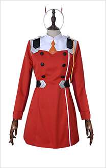 DARLING in the FRANXX Zero Two Code 002 Cosplay Costume Uniform Including Hair Accessory
