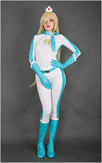 Kart 8 Rosalina Cosplay Costume Racing Suit Bodysuit