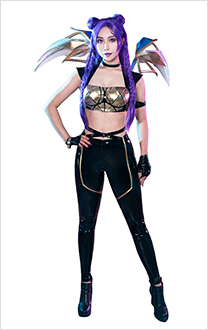League of Legends K/DA Pop Star Girls Kai'Sa Cosplay Costume