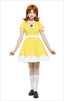 Robe Costume Cosplay Daisy Tennis N64 Princesse