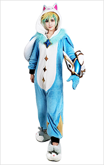 League of Legends - Costume de Cosplay de pyjama gardien gardien