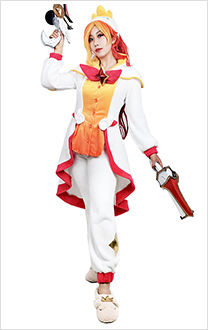 League of Legends Le gardien de pyjama Miss Fortune Cosplay Costume