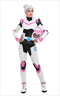 Princess Allura Pink Paladin Team V Cosplay Costume Uniform with Helmet