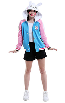 Overwatch DVA Hana Song Cute Anime Merchandise Baseball Jacket Daily Hoodie Cosplay Costume