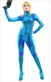 Metroid Samus Aran Zero Suit Bodysuit Cosplay Costume