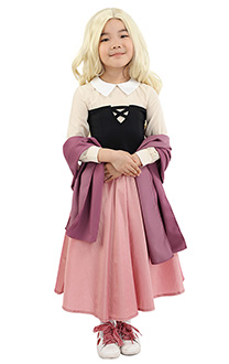 Sleeping Beauty Kids Princess Maiden Dress Cosplay Costume with Corset and Cape Inspired by Princess Aurora for Girls