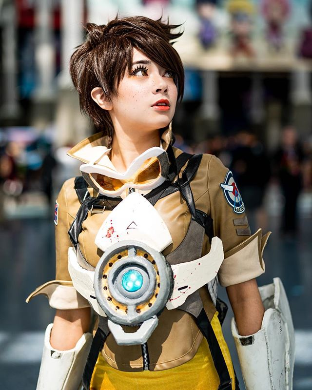 Hot tracer cosplay Overwatch Fan