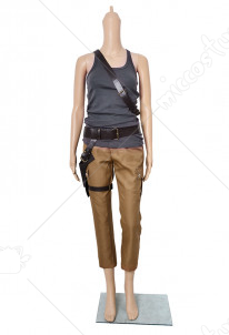 Tomb Raider Lara Croft Cosplay Costume with belts set