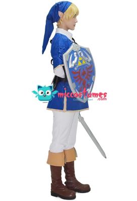 The Legend of Zelda Link Blue Cosplay Costume