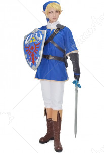 The Legend of Zelda Link Blue Cosplay Costume