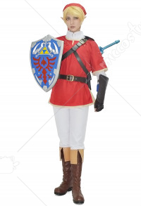 The Legend of Zelda Costume de Cosplay Link Rouge