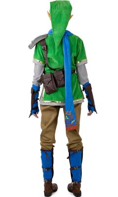 Zelda Hyrule Warriors Link Green Cosplay Costumes