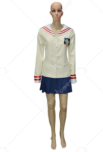 Clannad Grade Three Girl  School Uniform Cosplay Costume