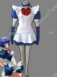 Battle Vixens Ryomou Shimei Maid Cosplay Costume