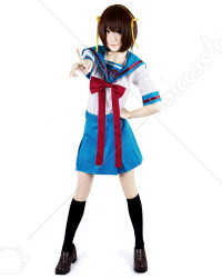 Haruhi Suzumiya Cosplay Short School Uniform