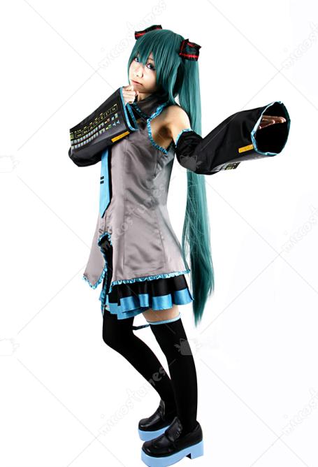 Hatsune Miku Christmas Outfit.Vocaloid Hatsune Miku Cosplay Costume