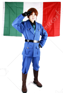 Hetalia Axis Powers Italy Cosplay Costume
