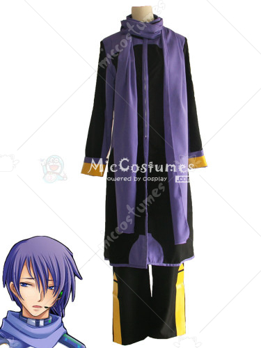Black Vocaloid Kaito Cosplay Costume
