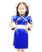 Street Fighter Chun Li Kids Cosplay Costume