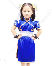 Street Fighter Chun Li Cosplay Costume pour Enfants