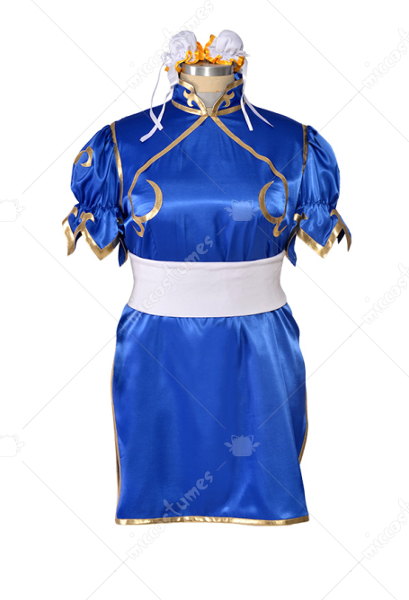 Street Fighter Costume de Cosplay Chun Li Taille Plus