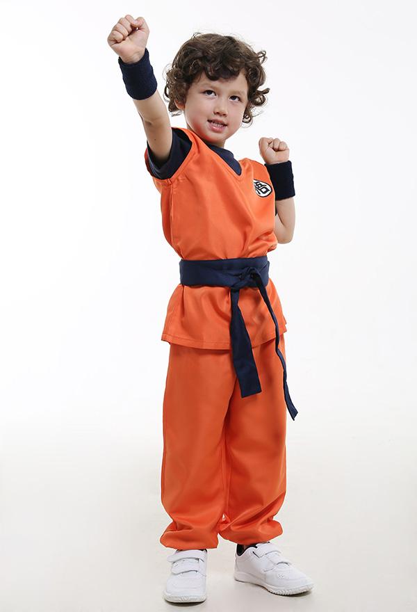Dragon Ball Son Goku Kinder Cosplay Kostüme Enthalten T-shirt und  Schuhbekleidung